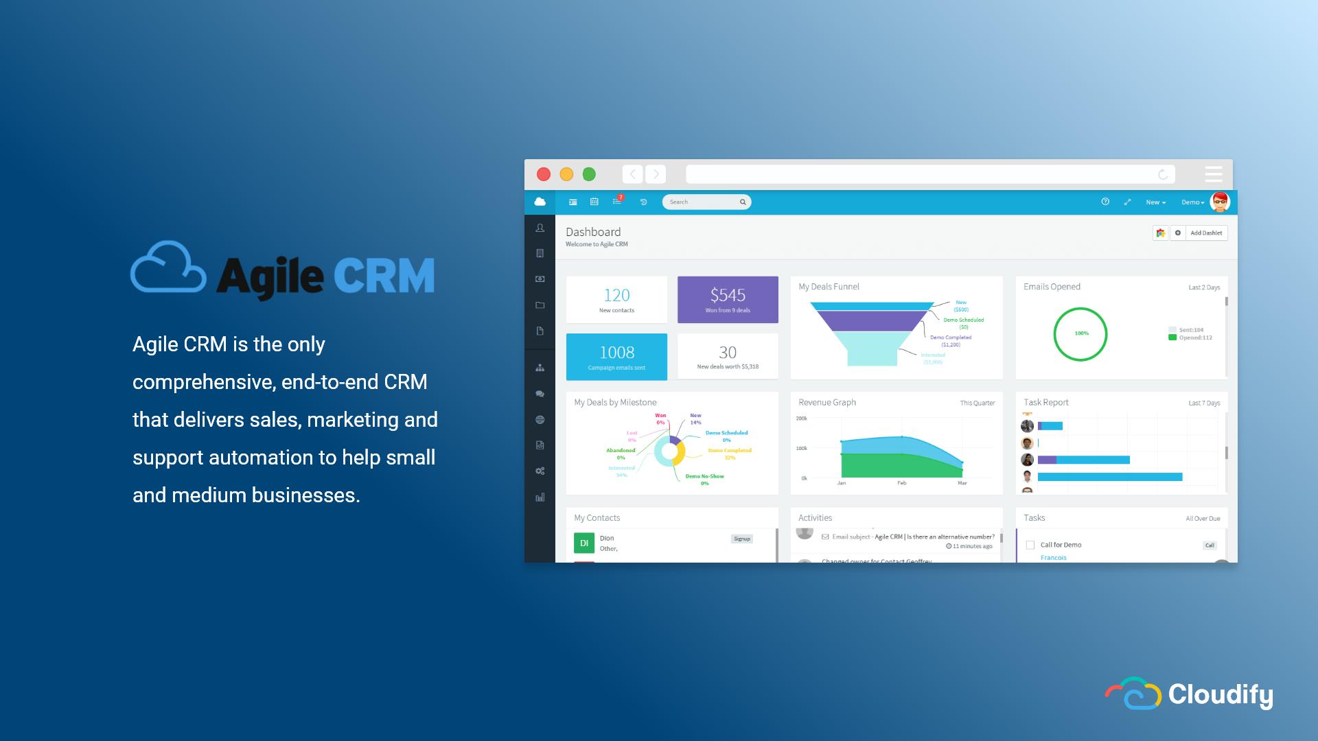 Top CRMs Agile CRM